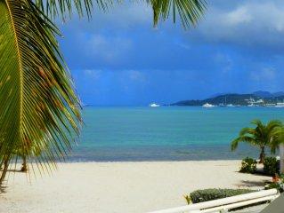 Aqua studio. Escapade romantique sur la plage des caraibes.