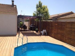 Maison avec piscine a Lunel pour des vacances en famille dans le sud