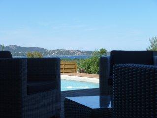 Villa contemporaine neuve, Piscine, Vue mer sur Pinarello
