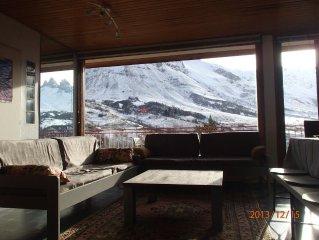 Appartement très confortable, vue magnifique sur les Aiguilles proche pistes