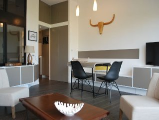 IN-BIARRITZ charm rental exceptional view beach 100m with PARKING