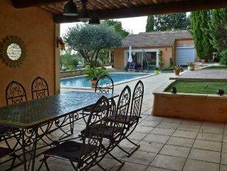 Villa individuelle de 110 m2 tout confort avec piscine de 9 x4,50 sans vis a vis