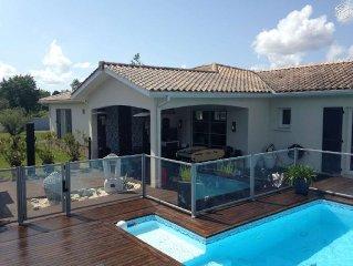 Villa avec piscine sur le Bassin d'Arcachon