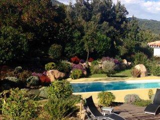 Villa avec Piscine chaufée à proximité de la magnifique plage de Pinarellu