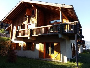 Charming T3 - 6 beds in log cabin - Sauna and Garden