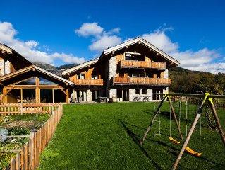Gîte avec piscine intérieure-sauna idéal ski, vélo, randonnée, au calme à Séez