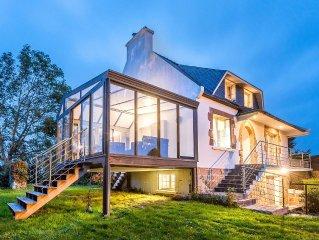 Maison Bretonne lumineuse, de grand standing, avec veranda,  proche bord de mer