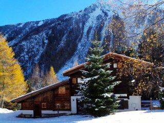 5 chambres 20 places, Chalet de famille Vallorcine, charme,confort soigne, sauna