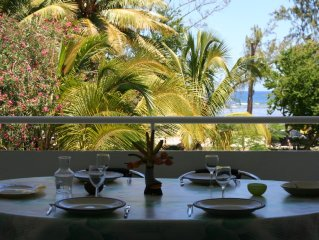 F2 Hermitage les Bains facing the lagoon, 30 meters from the beach ...