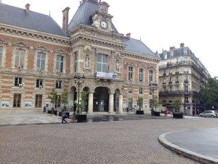 Paris centre bel appartement pour 4 avec jardin privatif