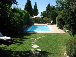 Traditional Provencal villa, heated pool on landscaped enclosed ground
