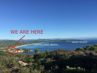 Pampelonne beaches, St Tropez, sea view,