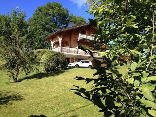 Chalet traditionnel Haute-Savoie pres du lac Leman. 10 couchages