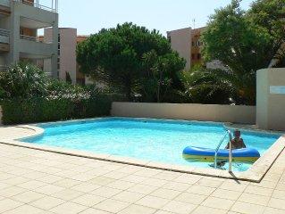 Bel appartement calme,spacieux,mezzanine et terrasse ouverte avec vue sur mer