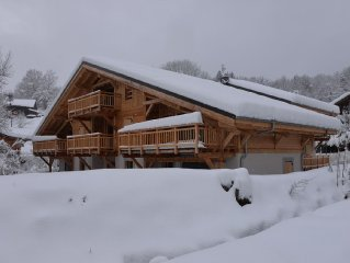 Charming apartment in new chalet 3 bedrooms 6 people with WiFi
