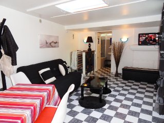 AU CALME, STUDIO 27m2 CENTRE VILLE, A 2 PAS DE LA MER , IDEAL COUPLE + 1 ENF