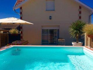 Belle Arcachonnaise 4*, label 'Naturellement Bassin' av. piscine balnéo chauffée