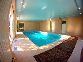 Villa Santa Fé, clim, piscine chauffée, paradis pour enfants, WIFI, vue