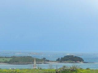 Maison vue sur mer, proche de la plage, 4 couchages, idéale vacances en famille