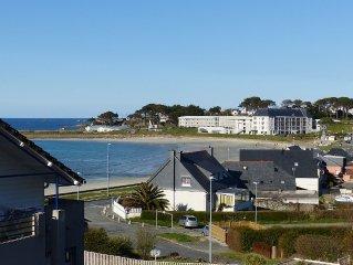 Appartement  2 à 4 pers face à la plage, Trestel, Côtes de granit Rose