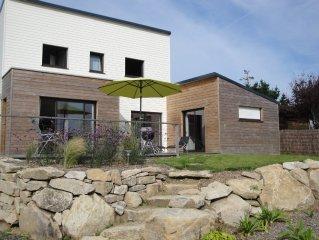Maison neuve en bois bord de mer proche Tregastel  6 pers