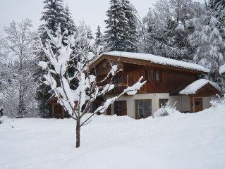 2km500 in La Clusaz Apt cottage, Jacuzzi, Wi-Fi