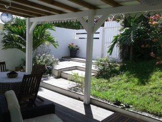 F2 meublé, spacieux, tout confort, terrasse, entrée&jardin privatifs, DIDIER