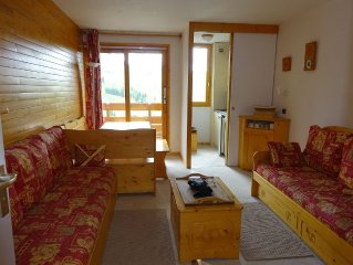 Belle Plagne 2050 m: T2 apartment Loue, 5 people maximum, live tracks and trade