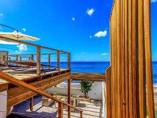 Martinique - Villa plage piscine - 3 CH +1,  4 SDB les pieds dans l'eau