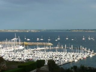 Charming duplex, terrace, living room, panoramic view over the Coast of Emeraude