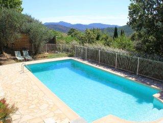 Grande villa 4 chambres avec piscine privée chauffée -magnifique vue panoramique