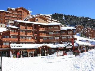 Mottaret, in the heart of the 3 Vallees, Apartment 4 people on the slopes