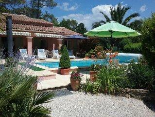 Villa avec piscine,entre CANNES,le Pays de FAYENCEet FREJUS-ST RAPHAEL,mer/lac