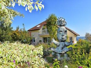 Villa de standing entre Annecy et Genève avec magnifique vue sur  montagnes
