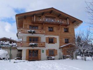 PROMOTION Appatement  face au sommet du Mont-Blanc 700mdes pistes wifi linge
