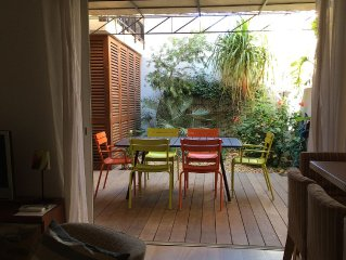 Porquerolles: 2/3 piéces 4 à 6 personnes, terrasse-patio