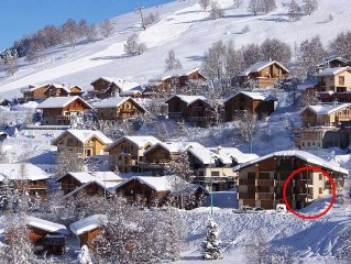 Appartement T2    4/6 couchages station de ski les 2 alpes