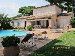 Beautiful luxury villa 400m 'walk from the Med!