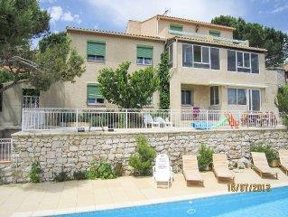 Villa provencale pres de Cassis,piscine belle vue colline et mer 90 m2habitable