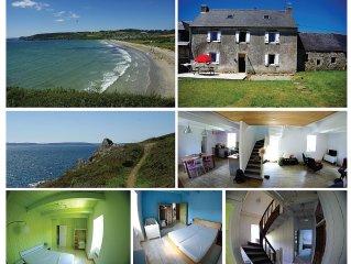 Maison a  la campagne, acces a la mer a 400m, jusqu'a 8 couchages