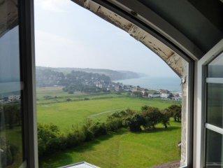 Appartement de charme  vue mer 180°, 1km golf de Dieppe, plage à pied en 3 m