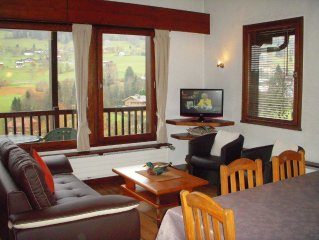 Duplex character, stunning views of the Mont Blanc 2, 4, 6 pers 75m2