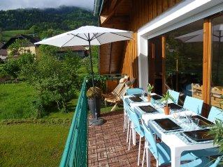 APPARTEMENT PROCHE NATURE DANS LES ALPES/ lac d'Annecy/ ski/ piscine/ sauna
