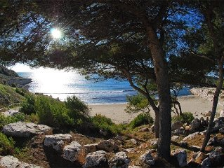 PROVENCE, beachfront house with garden, 135m2, sausset pines