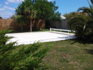 Maison sur terrain clos avec piscine chauffé