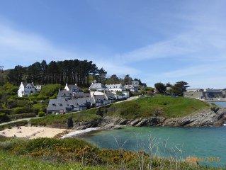 Belle Ile en mer - Le Palais  studio + terrasse au bord de la plage de Ramonette