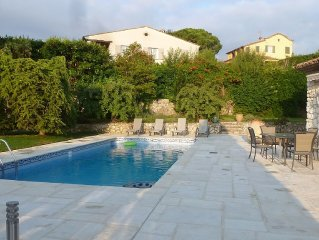 Superb provencal 240 m2, 5 min beach, sw., 1500m2 garden, quiet, air conditioni
