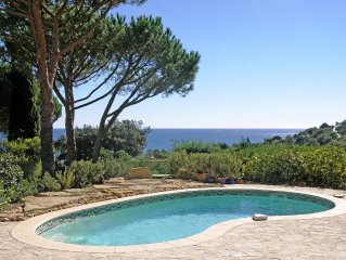 200m from the beach, villa with private pool and beautiful sea view.