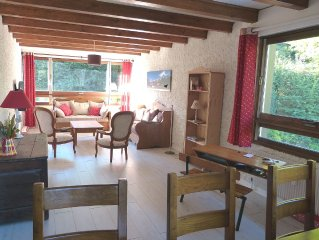 Apartment 93 m2, quiet, close to slopes, Mt Blanc massif view, St Gervais