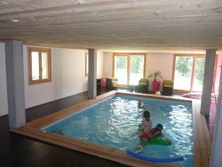 Chalet 10 people with indoor pool.